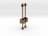 Dangling Cube Earrings - geometric jewelry 3d printed