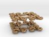 Fractal Celtic knot earrings 3d printed