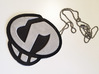 Team Skull Pendant 3d printed Does not print in full color. This is how it looks fully painted with an added chain.