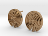 WestWorld Maze Earrings (studs) 3d printed