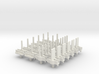 """NEW! Tyco """"S"""" Pins - for HO Slot Cars 3d printed Set of 24 pins shown in White Strong & Flexible"""