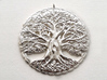 Tree of Life Pendant 3d printed Raw Silver