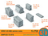 WW2 US MG Ammo Cans 1/72 scale SWFUD 72-013 3d printed