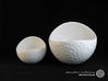 Porcelain Plant-pot in Golfball-Look (small round) 3d printed Gloss White - Size small and XL