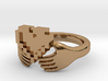 8bit Claddagh Ring  3d printed
