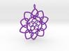 Heart Petals Links - 6.4cm - wLoopet 3d printed