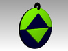 Viral Icon Pendant Small 3d printed Full Color