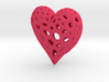 Organic Heart Necklace 3d printed