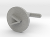 Cufflink - Greater Than Symbol 3d printed