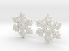 Snowflake Earring Dangles (pair) 3d printed