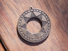 Ancient Sun (solid, incised design) 3d printed