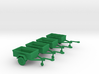 1/144 Scale M416 Jeep Trailers (4) 3d printed