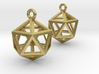 Icosahedron Earrings 3d printed