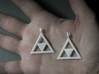 Princess Zelda Triforce Earrings 3d printed
