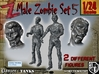 1-24 Male Zombie Set5 3d printed