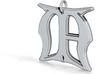 Monogram Initials MA Pendant  3d printed