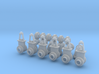 """1:87 scale 24"""" Flanged Pipe Fittings and Gate Valv 3d printed"""