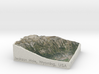 Jackson Hole, Wyoming, USA, 1:100000 3d printed