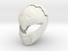 MMPR White Ranger Movie Helmet  3d printed