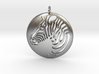 Zebra Pendant Round 3d printed