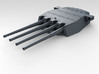 """1/700 HMS King George V 14"""" Turrets 1941 3d printed 3d render showing product detail (A Turret)"""