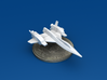 Space Fighter Type-A, 4-Pack 3d printed Forward 3/4 View