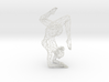 Wireframe Dancer Girl 002 3d printed