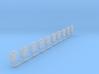 1:87 jerry can Kanister Bund set 10 3d printed