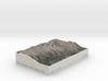 Grand Tetons, Wyoming, USA, 1:150000 Explorer 3d printed
