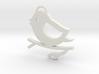 Bird on a Branch Pendant 3d printed