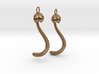 """""""Life of a worm"""" Part 4 - """"Baby worm"""" earrings 3d printed"""