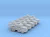 1/285 Scale Lacrosse Missile Launchers Set Of 5 3d printed