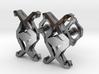 HEAD TO HEAD Union, Small Cufflinks 3d printed