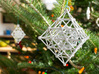 Diamond Spinning Ornament 3d printed Printed in Polished Alumide, on tree