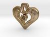 Heart Pendant with Gem holder 3d printed