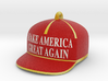 Trump Make America Great Again Red Hat Ornament 20 3d printed