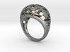 Floral bombe ring 3d printed