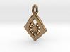 Diamond Web Pendant 3d printed