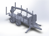 NEW!!! 1:160/N-Scale Forest Trailer  With Crane 3d printed