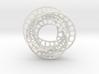 3 quarter twist Möbius strip 3d printed