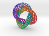 The other Klein bottle (color, triple twist) 3d printed