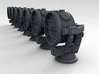 1/100 WW2 Kriegsmarine 154cm Searchlights x7 3d printed 3d Render showing product detail