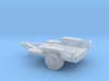 1/144 Scale M1011 Humvee Flat Bed Trailer 3d printed