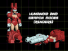Gun Bunni Transforming Weaponoid Kit (5mm) 3d printed Render of Figure in both Modes