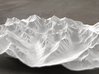 8''/20cm High Tatras, Poland/Slovakia, WSF 3d printed Radiance rendering of model, viewed from Poland, looking SSW
