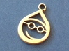 Small Elf Pendent 3d printed Smiling Elf Pendent
