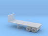 N-scale 25' Flatbed Tandem Axle Trailer 3d printed
