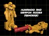 Zapmus Ion Transforming Weaponoid Kit (5mm) 3d printed render of figure in both configurations