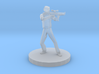 Secret Service Federal Agent With Assault Rifle 3d printed