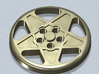 BUTTON CROMODORA WHEEL 308 12 MM 3d printed Button with the shape of the Ferrari 308 Cromodora wheel, 12 mm diameter